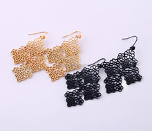 Trendy unique chandelier alloy gold plated exaggerated earrings for women,magnet earring