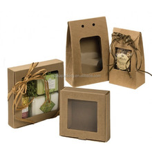 E-flute Kraft Boxes with windows for Gift Package