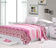 100% coral fleece material blanket with full color printing