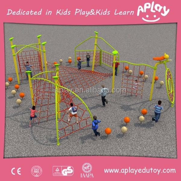 Red de cuerda Estructura de juego juegos de niños de jardín de ...
