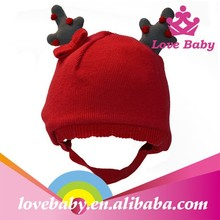 E.mirreh winter latest red deer style knitting baby hats for Christmas