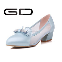 High Quality Lady Dress Shoes Women High Heel Pumps Wedges Rubber Outsole with diamond