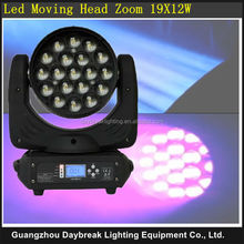19x12w led moving head zoom light, multifunctional moving head light, led moving head wash light, international in-put voltage