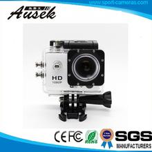 wireless HD digital extreme waterproof 30M sj4000 wifi sport action camera with mini 1.5/2.0 LCD display