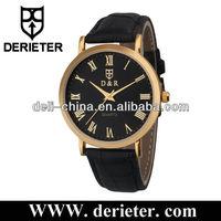 fashion designer stock rose gold alloy cheap black alloy watch