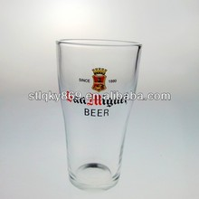 lyT040 Hot Sale Eco-friendly 410ml Promotional Beer Glass Cup San Miguel Beer