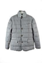 Mens abajo abrigos para el invierno de manga larga gris sin capucha canada