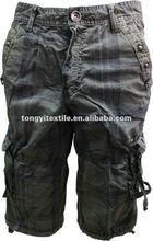 2013 nuevo estilo para hombre pantalones cargo pantalones bermudas de cordon hombres