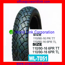 110/90-16 Rubber Motorcycle Wholesale Tire and Tubes