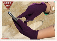 2014 fashion popular ladies cashmere thicken touch screen gloves warm driving gloves .