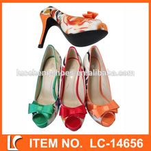 colorido arco de lujo de alto tacón mujer sexy zapatos de vestir