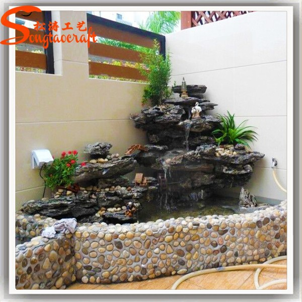 Indoor decor tuin vijver glasvezel visvijvers stenen for Decorative pond fish
