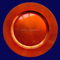 Novelties wholesale china plastic blue charger plates
