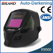 Plastic Black auto-darkening flip up welding helmet