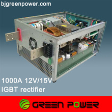 1000A 12V power supply air cooling modular type small size 450x560x300mm Europe quality China price power saving 17% ripple 3%
