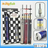 kingfish product 1.5ohm atomizer evod twist 3 m16 e cigarette gold wholesale distributors with factory price