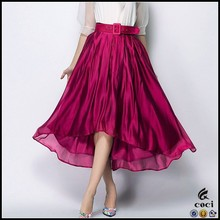 CCS037 New arrival latest long skirt design pleated maxi skirt