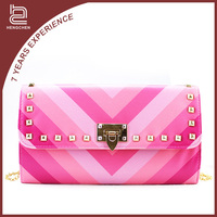 Handcee Lovely Pink PU Shoulder Bag For Girls Christmas Dinner