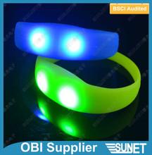 SUNJET LED silicone bracelet kids birthday party supplies