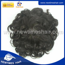 synthetic hair mens toupee