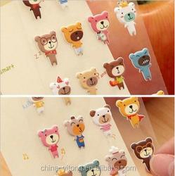 OEM factory price 3D carton sticker for kids