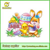 Easter day's sticker removable mirror rabbit & hen sticker