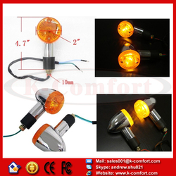 KCM72 NEW 2PCS Universal motorcycle LED Turn Signals Light lights Blinkers Amber lensFor Kawasaki