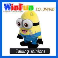 Popular Lovely Despicable Me Minion Soft Toy Talk Back Plush Toy