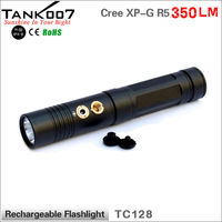 Magnetic small size LED Flashlight with diffuse SOS function 18650 battery powered
