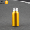 50ml yellow color custom design aluminium bottle manufacturer