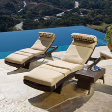 2015 NEW Style Outdoor day bed wicker sun folding loungers