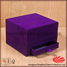 Nobel Purple Fabric Covered Jewelry Gift Boxes DH4072#