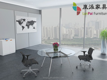 cheap price glass round office table MS-09