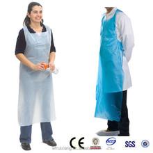 Certificated wholesale customized pe plastic restaurant apron