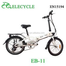 "ELECYCLE 20"" folding electric bike/folding bike electric/electric bike folding for sale disc/v brake samsung battery BAfun motor"
