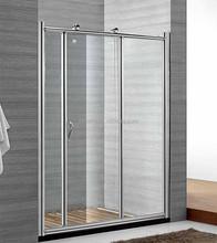 frame adjustable sliding glass shower door