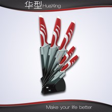 New design hotsell fashion kitchen knife set with holder