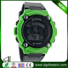 cheap digital watches for men 2012, promotional lcd silicone waterproof bracelet watch