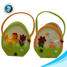 Wholesale 2015 customized easter egg hunting toy Felt easter basket