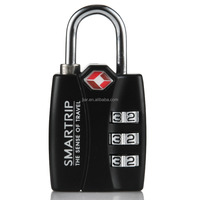 Smartrip TSA Approved Travel Lock 3 Digit Combination Luggage Padlock with Smart Open Search Alert Indicator Black