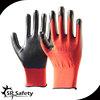 SRSAFETY 13G knitted polyester coated nitrile gloves red anti sliding gloves