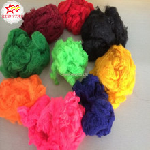 Recycled dope dyed chemical fiber Polyester staple fiber pet fiber regenerated PSF polyester fiber for non-woven