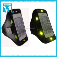 Led armband for running cell phone sport armband , exercise arm case for iphone
