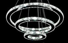 Diamond Ring Crystal Chandelier Lighting Modern LED Dining room Pendant Lamp 3 Rings 70*50*30cm 110V or 220V
