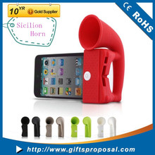 Wireless Rubber Horn Stand Speaker Dock for Apple iPhone 4G 4 4S