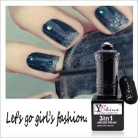 Y-Shine OEM UV / LED Nail Ge Polish Nail Kits Glitter Powder Nail Sticker For Professional Salon