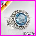 Ebay de China Anillo Cristal Azul Cheapest