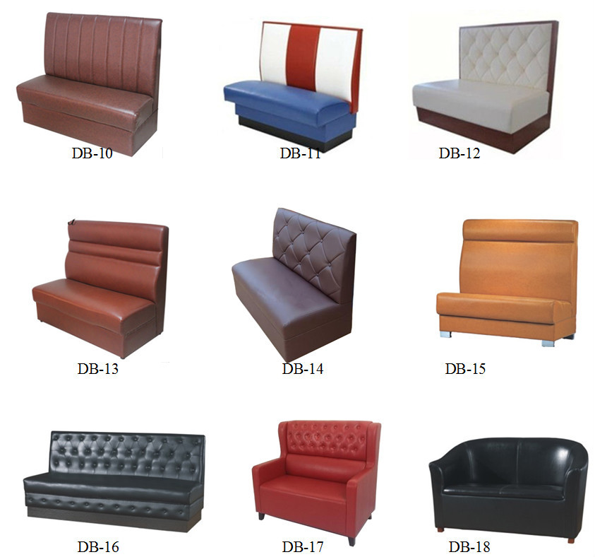 Double Sides Fast Food Leather Banquette amp Diner Booth