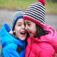 children's hats handmade crocheted hats striped beanie knitting winter hat