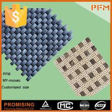 easy install stone cheap aluminum mosaic art patterns